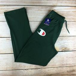 Men's Champion Big C logot Script Sweatpants green Mens medi