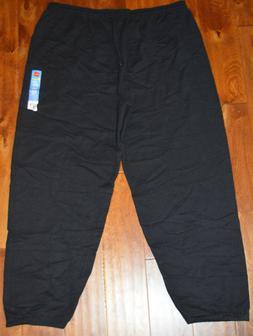 Men's Hanes Black Comfort Soft Cinch Leg Drawsting Lounge Sw