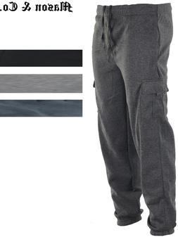 Men's Cargo Jogger Sweatpants Fleece Sweat pants Casual Comf
