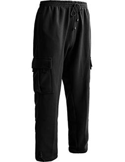 Men's Cargo Sweatpants Heavyweight Fleece Long Pants 60/40 S