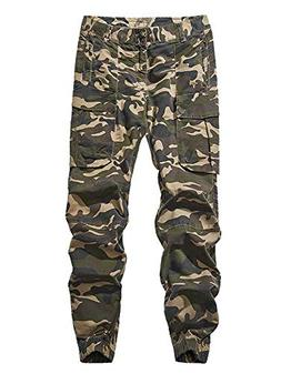 AKARMY Men's Casual Camo Jogger Sweatpants Basic Jogger Pant