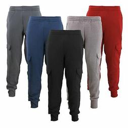 Men's Casual Fleece Sweatpants Sport Gym Workout Fitness Car