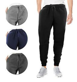 Men's Casual Jogger Pants Soft Slim Fit Fitness Gym Sport  W