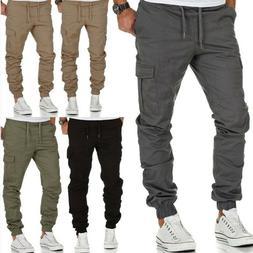 Men's Casual Joggers Pants Sweatpants Cargo Combat Loose Act