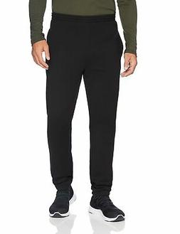Amazon Essentials Men's Closed Bottom Fleece Pant, Black, La