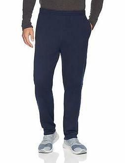 Amazon Essentials Men's Closed Bottom Fleece Pant, Navy, Med