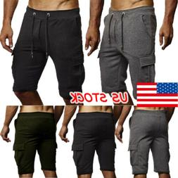 Men's Clothes Casual Half Pants Fit Trousers Running Joggers