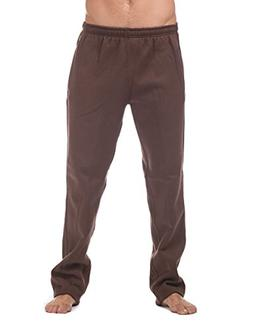 Pro Club Men's Comfort Fleece Pant, Large, Brown