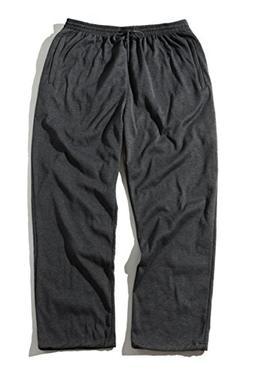 Greatrees Men's Cotton Big & Tall Fleece Sweatpants Dark Gre