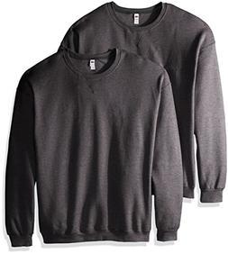 men s crew sweatshirt 2 pack charcoal