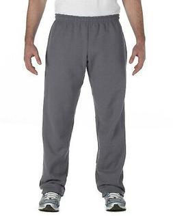 Gildan Mens Sports Pants Heavy Blend Open Bottom Sweatpants