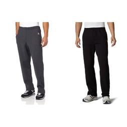 men s dri power open bottom sweatpants