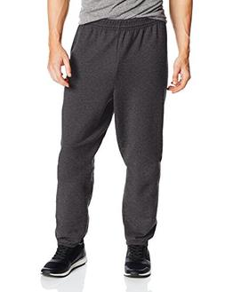 Hanes Men's EcoSmart Fleece Sweatpant , Charcoal Heather, 2X