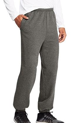 Hanes Men's EcoSmart Fleece Sweatpant, Slate Heather, M