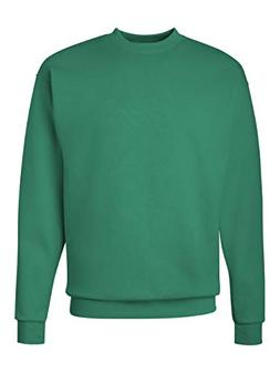 Hanes Men's EcoSmart Fleece Sweatshirt, Kelly Green, 4X Larg