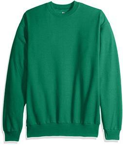 Hanes Men's EcoSmart Fleece Sweatshirt, Kelly Green, Medium