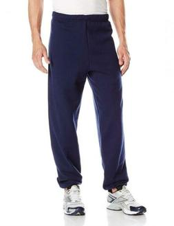 Jerzees Men's Elastic-Bottom Sweatpant Navy Large