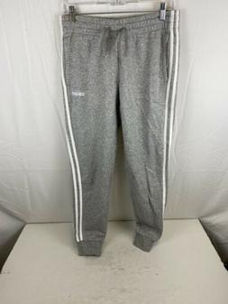 adidas Men's Essentials 3-stripes Tapered Cuffed Pants, Gray