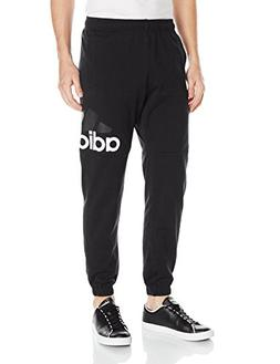 adidas Men's Essentials Performance Logo Pants, Black/White,