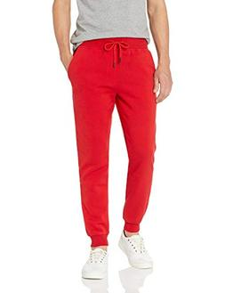 Akademiks Men's Flatbush Ribbed Sweatpants, RED, Large