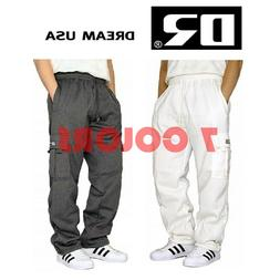 MEN'S FLEECE CARGO SWEATPANTS HEAVYWEIGHT M-5XL 7 COLORS DRE