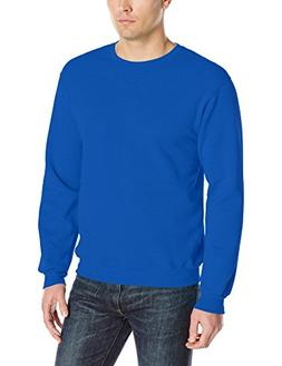 Fruit of the Loom Men's Fleece Crew Sweatshirt, Royal, X-Lar