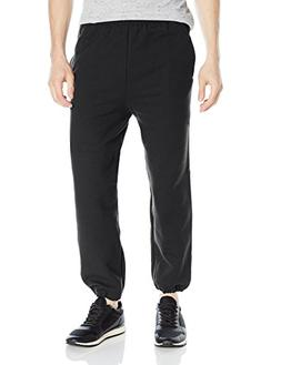 Gildan Men's Fleece Elastic Bottom Pocketed Pant, Black, Med