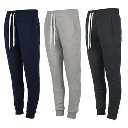 Men's Fleece Jogger Pants Marled Casual Active Gym Workout S