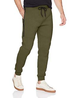Southpole Men's Fleece Jogger Pants with Water Proof Long Zi