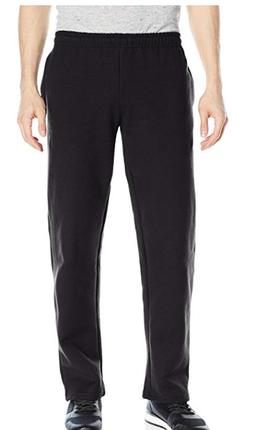 Gildan Men's Fleece Open Bottom Pocketed Pant, Black, Size M