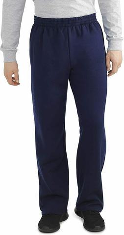 Fruit of the Loom Men's Fleece Open Bottom Sweatpants, navy,