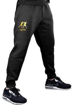 Men's Gold Foil Boxing Emblem Jogger pants sweatpants Fitted