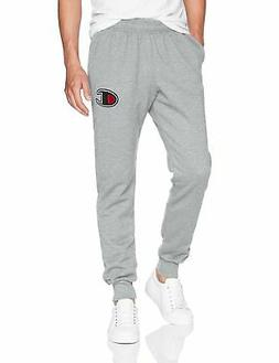 Champion Men's Graphic Powerblend Fleece Jogger, Oxford Grey