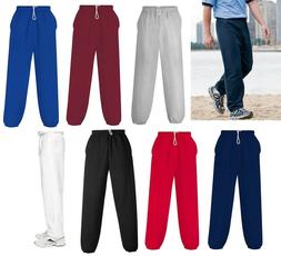 MEN'S HEAVIER WEIGHT, SWEATPANTS w/ POCKETS, COTTON / POLY,