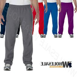 Gildan Mens Sweatpants Open Bottom Elastic Waistband Heavy B