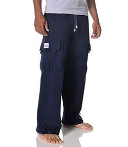 Pro Club Men's Heavyweight Fleece Cargo Pants, Large, Navy