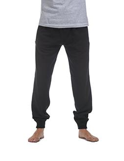 Pro Club Men's Jogger Fleece Long Pants, 2X-Large, Black