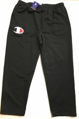 Champion Men's Jogger Sweatpants Black White Big C Logo 2XL
