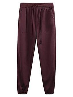 men s jogger sweatpants elastic bottom casual