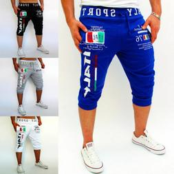 Men Sports Gym Jogging Shorts Pants 3/4 Trousers Track Summe