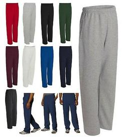 MEN'S MID-WEIGHT, OPEN BOTTOM, COTTON / POLY SWEATPANTS,  PO