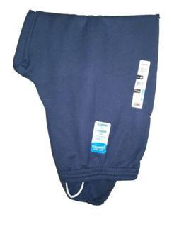 Fruit of the Loom Men's Navy Blue Fleece 2 Pocket Elastic Le