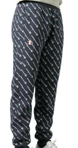 Men's Champion Navy Reverse Weave All-Over Print Joggers Swe