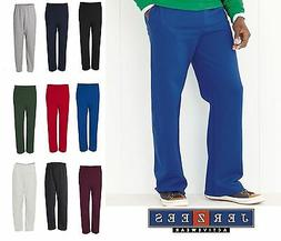 JERZEES Men's NuBlend Open Bottom Pocketed Sweatpants S-3XL