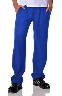 Pro Club Men's Open Bottom Comfort Fleece Sweatpant, Royal B