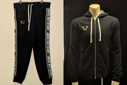 True Religion Men's Panel Zip Hoodie and Jogger Sweatpant