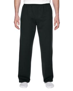 Fruit of the Loom Men's Pocketed Open-Bottom Sweatpant, Blac