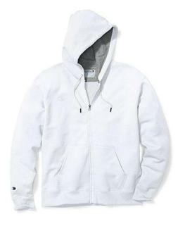 Champion Men's Powerblend Sweats Full Zip Jacket White cs089