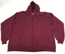 Hanes Men's Pullover EcoSmart Fleece Hooded Sweatshirt, Maro