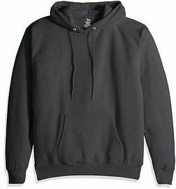 Hanes Men's Pullover Ecosmart Fleece Hooded Sweatshirt, Char